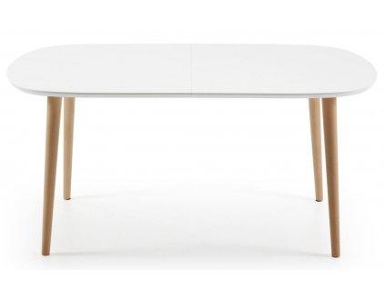 Bílý rozkládací jídelní stůl LaForma Oakland 160/260x100 cm