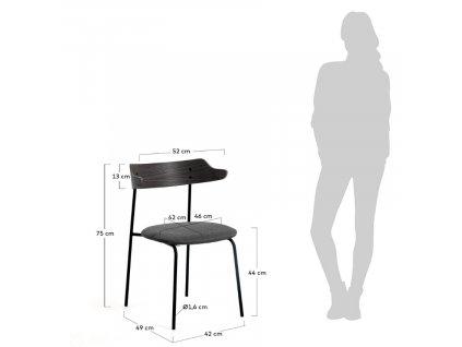 Tmavě šedá jídelní židle LaForma Olympia