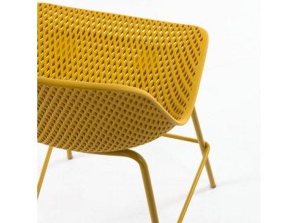 Žlutá plastová barová židle LaForma Quinby