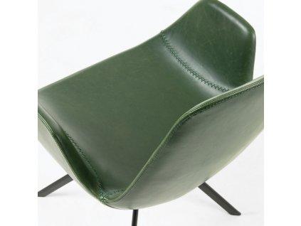 Zelená kožeková židle LaForma Yasmin