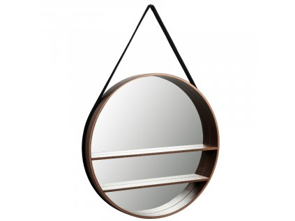 Ořechové závěsné zrcadlo LaForma Benton 58,5 cm
