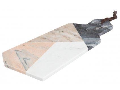 Barevné mramorové servírovací prkénko LaForma Bergman 40,5 x 20 cm