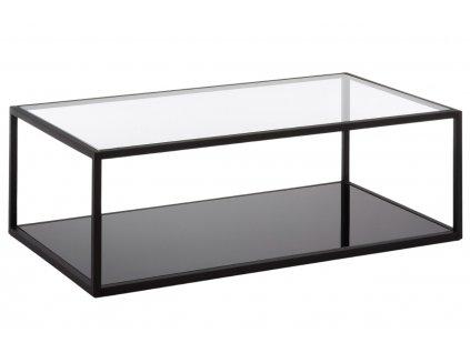 Černý skleněný konferenční stolek LaForma Greenhill 110 x 60 cm