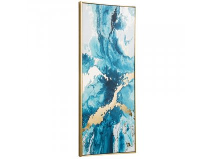 Modro zlatý abstraktní obraz LaForma Iconic 50 x 120 cm