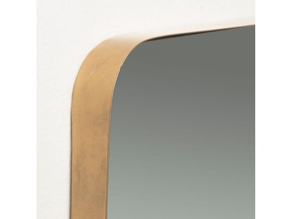 Závěsné zlaté kovové zrcadlo LaForma Marcus 30 x 100 cm