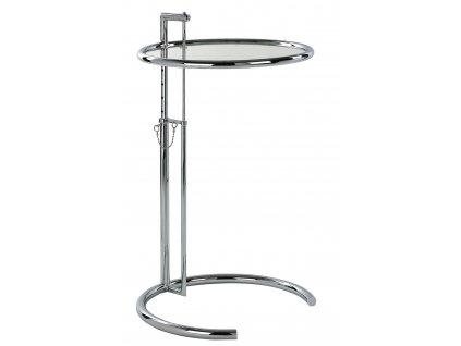 Chromovaný odkládací stolek LaForma Napoli e skleněnou deskou