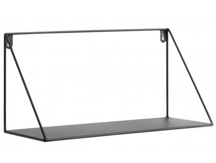 Černá kovová police LaForma Upp 40 cm