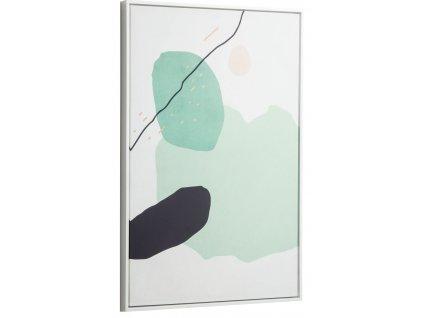 Zelený abstraktní obraz LaForma Xooc