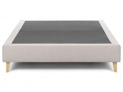 Béžová látková postel LaForma Nikos 160x200 cm