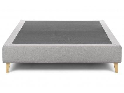 Světle šedá látková postel LaForma Nikos 180x200 cm