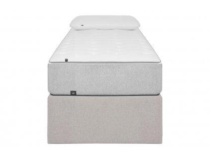 Béžová látková postel LaForma Matters 90 x 190 cm