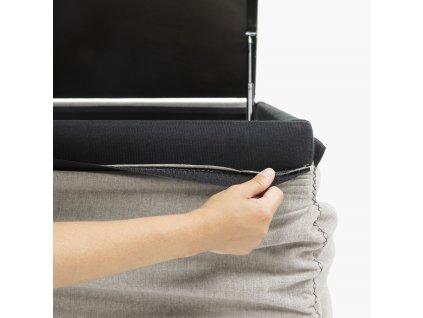Béžová látková postel LaForma Matters 180x200 cm