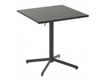 Grafitově šedý skládací kovový stůl LaForma Advance s kovovou podnoží