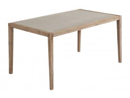 Šedý dřevěný jídelní stůl LaForma Corvette 160 x 90 cm