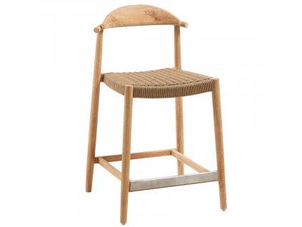 Dřevěná barová židle LaForma Glynis 94 cm s podnožkou