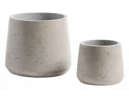 Set dvou béžovo šedých betonových květináčů LaForma Lux II.