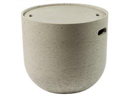 Šedý cementový konferenční stolek LaForma Rhette 49 cm