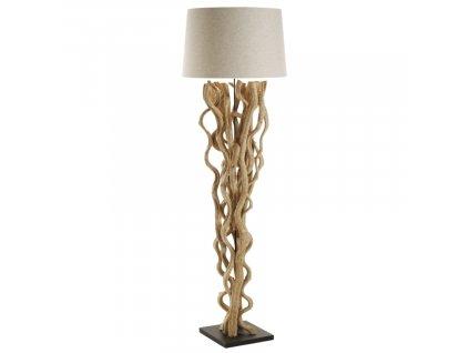 Bílá stojací lampa LaForma Abun