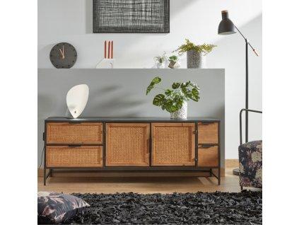 Betonová béžová stolní lampa LaForma Accas, kovové stínidlo, nepřímé osvětlení