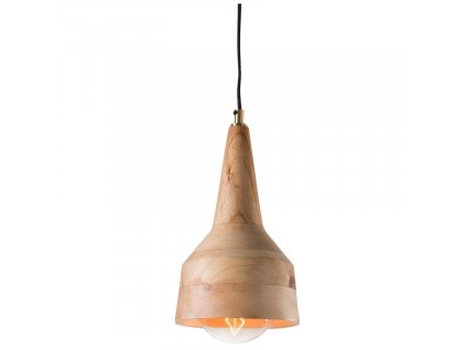 Dřevěné závěsné světlo ALLER II., jednoduchost, jedinečnost