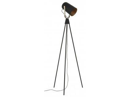Černá kovová stojací lampa LaForma Briand s kloubovým stínem