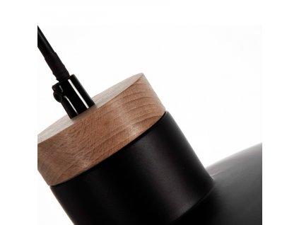 Černé kovové závěsné světlo LaForma Margot
