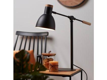 Černá stolní lampa LaForma Scarlett
