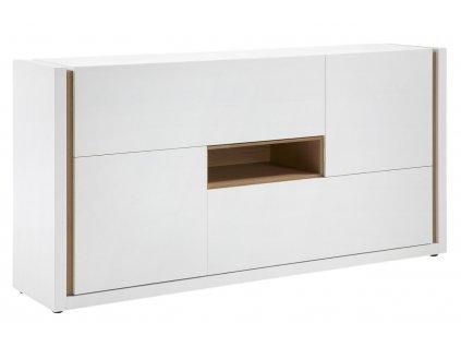 Bílá komoda LaForma Qu 197 x 45 cm
