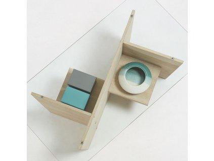 Dřevěný konferenční stolek LaForma Balwind se skleněnou deskou