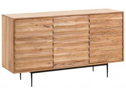Dřevěná komoda LaForma Delsie 147 x 41 cm
