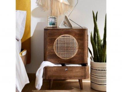 Přírodní dřevěný noční stolek LaForma Geraldine