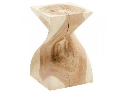 Dřevěný odkládací stolek LaForma Hakon II. 30 x 30 cm