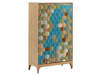 Barevná dřevěná skříň LaForma Ilka