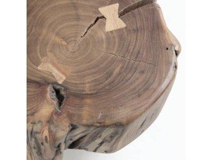 Dřevěný odkládací stolek LaForma Rousy II. s kovovou podnoží