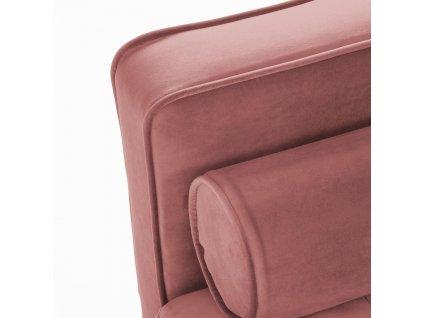 Růžová čalouněná pohovka LaForma Bogart 222 cm