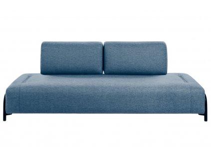 Modrá látková třímístná pohovka LaForma Compo 232 cm