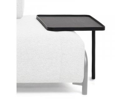 Velký černý kovový odkládací stolek LaForma Compo
