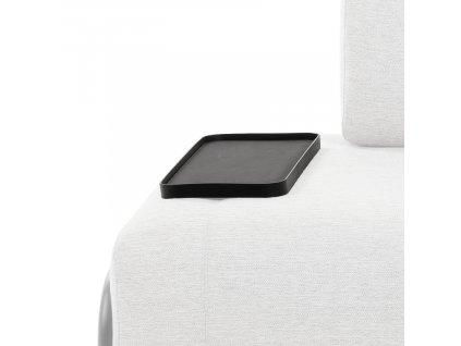 Malý černý kovový odkládací stolek LaForma Compo 54 x 21 cm