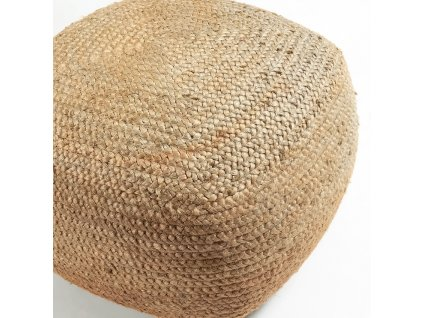 Přírodní jutový puf LaForma Dip 50x50 cm
