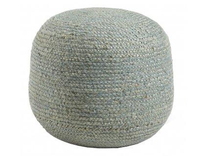 Modrý jutový puf LaForma Dip 45x50 cm