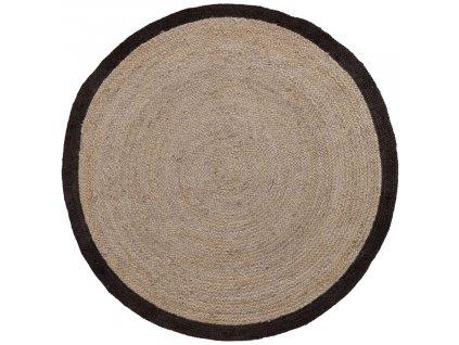 Přírodní jutový koberec LaForma Samy 150 cm s černým detailem
