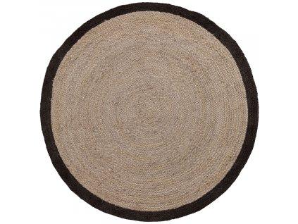 Přírodní jutový koberec LaForma Samy 200 cm s černým detailem