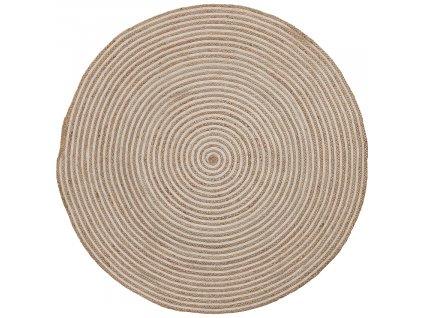 Přírodní jutový koberec LaForma Samy 100 cm s bílým detailem