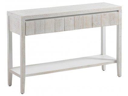 Bílý dřevěný toaletní stolek LaForma Woody 120x78 cm