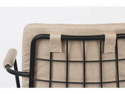 Béžová látková jídelní židle ZUIVER FAB s područkami