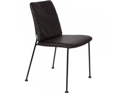 Černá čalouněná jídelní židle ZUIVER Fab