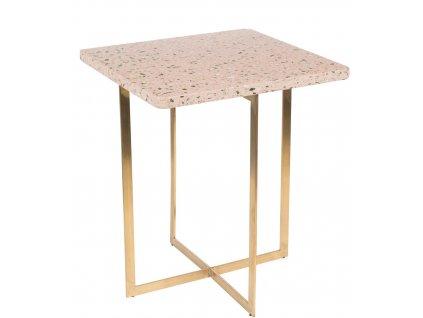 Růžový stolek ZUIVER Luigi Square