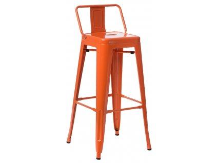 Červená kovová barová židle Tolix 118 cm