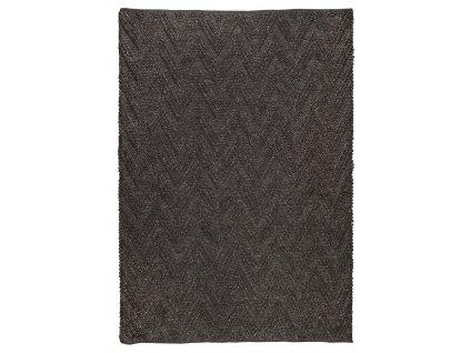 Tmavě šedý koberec ZUIVER PUNJA 170x240 cm s geometrickým vzorem