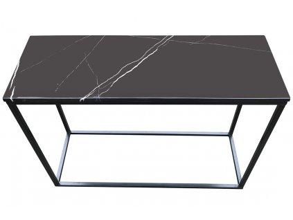 Černý odkládací stolek RGE Accent 100 cm s černou mramorovou deskou